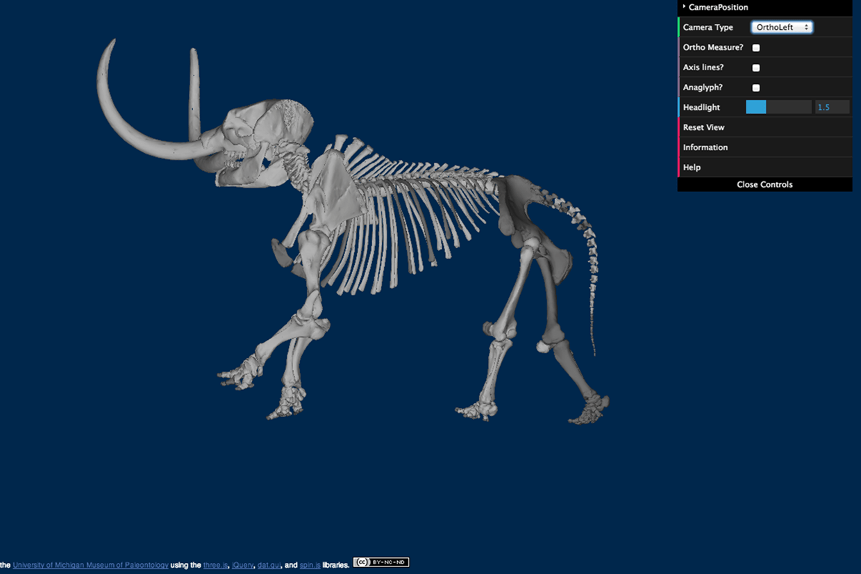 The 3d interactive online tool for paleontologists Online rendering tool