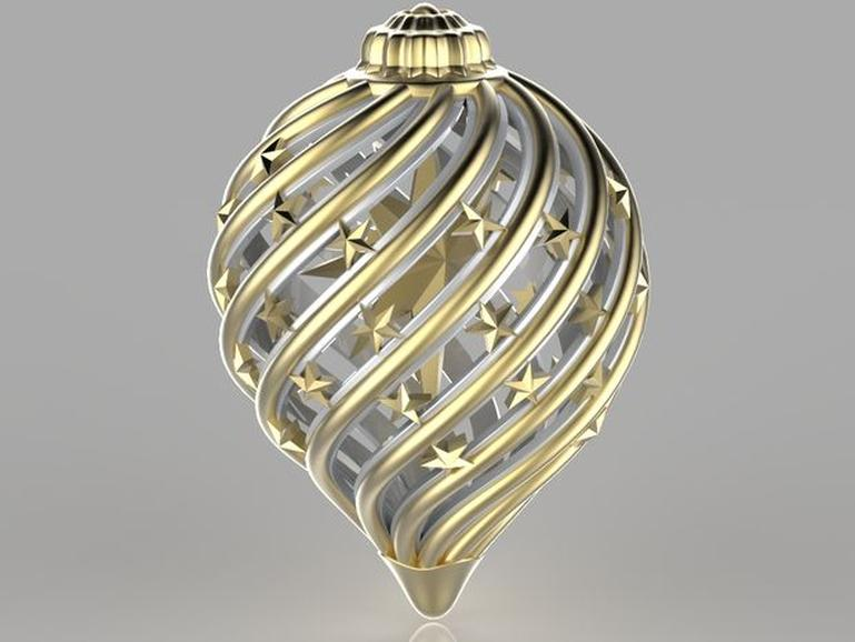 It's just a photo of Rare 3d Print Christmas Ornaments
