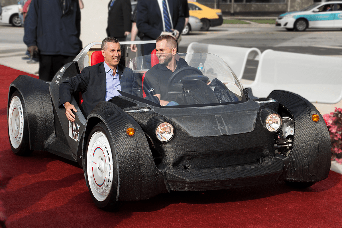 First 3D-Printed-Car 3
