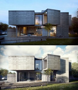 rendering a house project