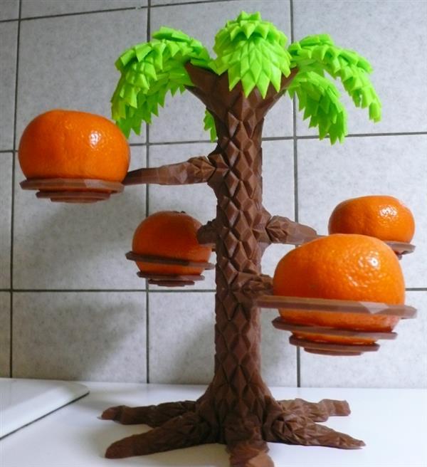 3D Custom Printed Palm Tree – A New Form of DIY Fruit Holder